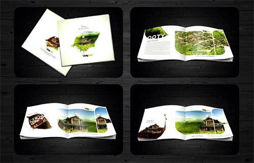 Esempio di brochure quadrata n.27