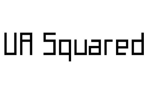 Anteprima del font UA Squared