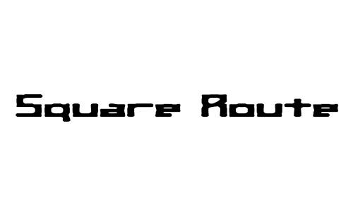 Anteprima del font Square Route