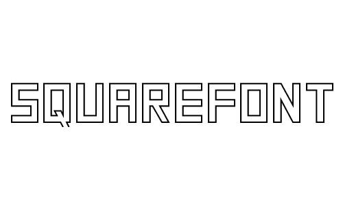 Anteprima del font SquareFont