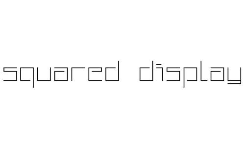 Anteprima del font Squared Display