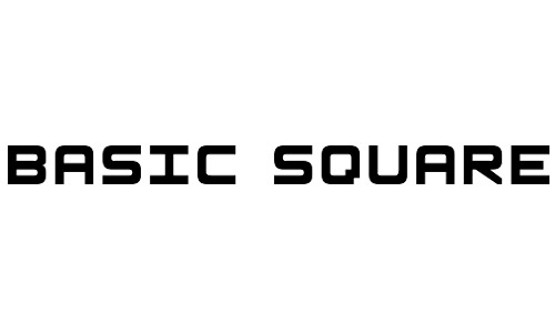 Anteprima del font Basic Square 7