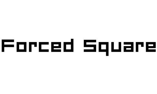 Anteprima del font Forced Square