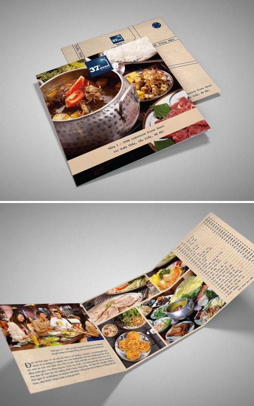 Esempio di menù per ristoranti n.2