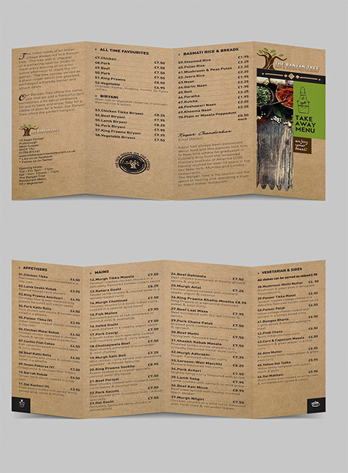 Esempio di menù per ristoranti n.4