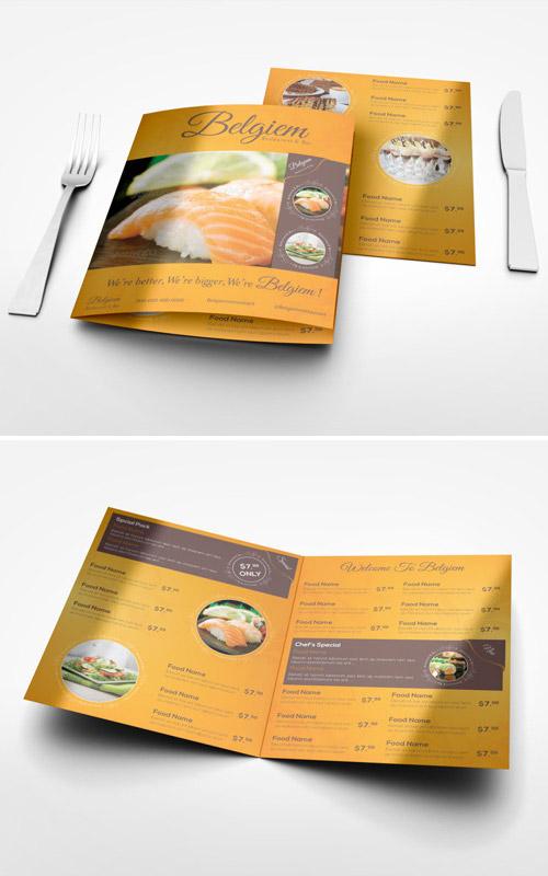 Esempio di menù per ristoranti n.5