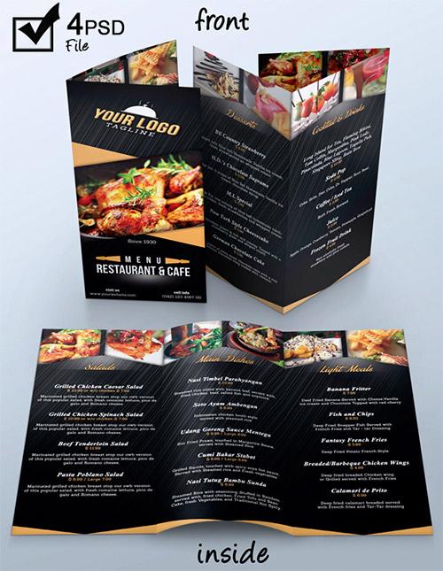 Esempio di menù per ristoranti n.7