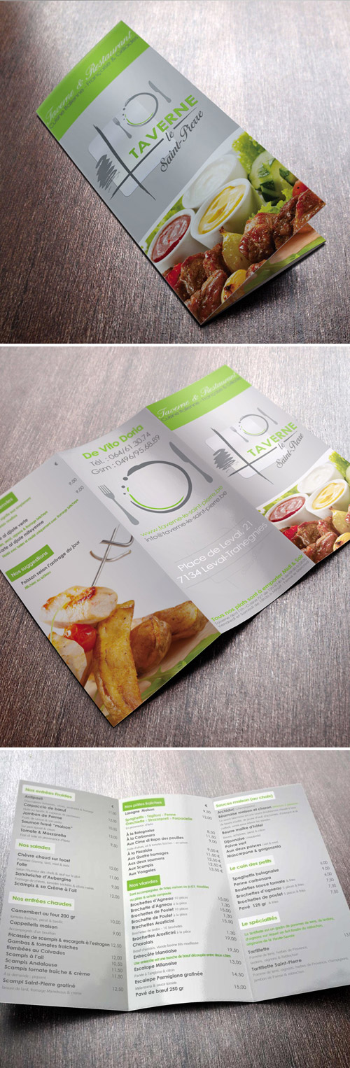 Esempio di menù per ristoranti n.16