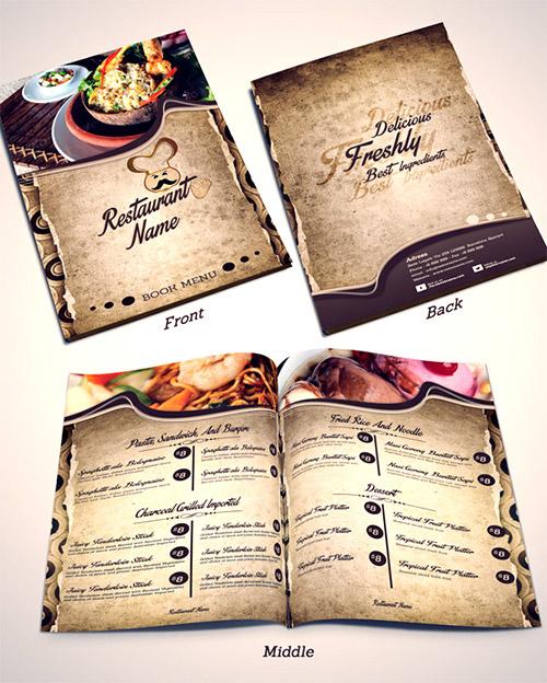 Esempio di menù per ristoranti n.17