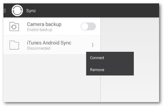 Schermata di sincronizzazione dei dispositivi