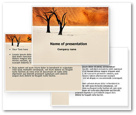 Immagine di un template PowerPoint del sito Powered Template