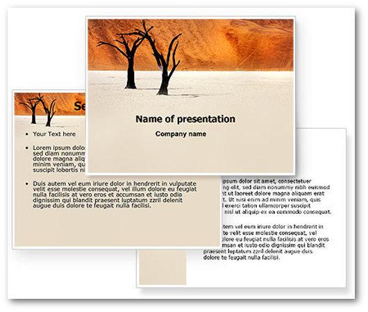 Immagine di un template PowerPoint del sito Powered Template