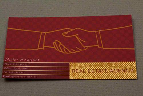 Immagine del biglietto da visita per agenti immobiliari n.6