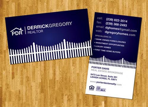 Immagine del biglietto da visita per agenti immobiliari n.28