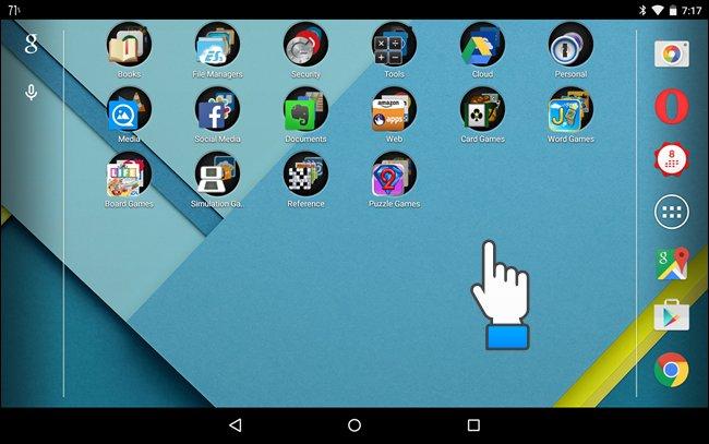 Primo passaggio per cambiare l'immagine di sfondo su Android