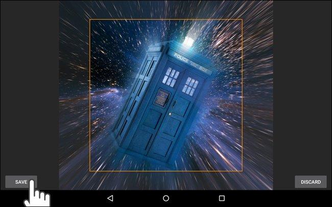 Selezione della parte dell'immagine da usare come sfondo su Android