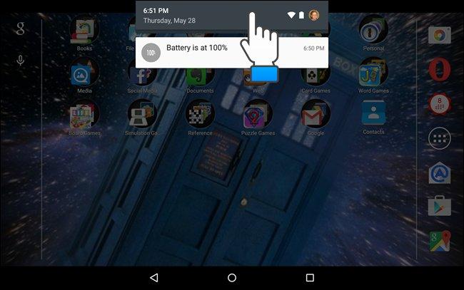Accesso alle impostazioni di Android