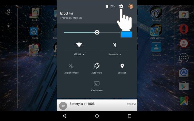 Icona delle impostazioni Android