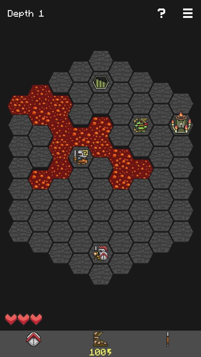 Schermata del gioco Hoplite per iPhone e iPad