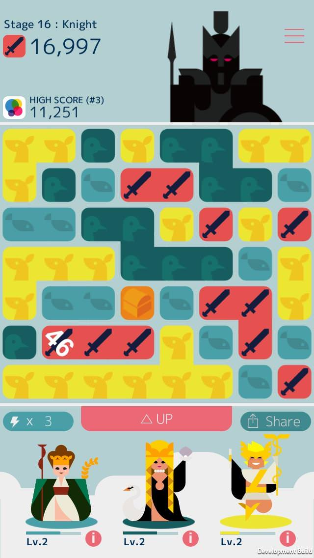 Schermata del gioco MUJO per iPhone e iPad