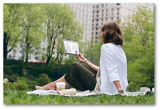 Immagine sulla connettività di un tablet