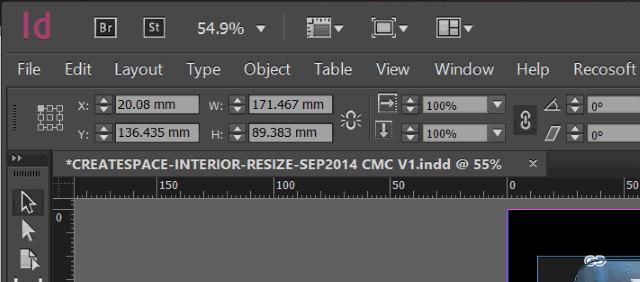 Schermata del programma Adobe InDesign