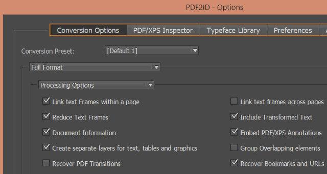 Schermata del programma PDF2ID