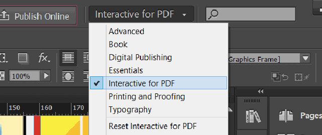 Selezione delle voce PDF Interattivi