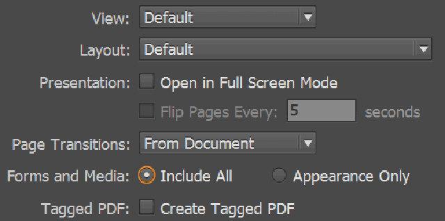 Salvare PDF interattivo