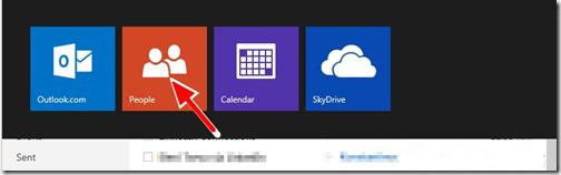 Pulsante Persone nell'account Microsoft