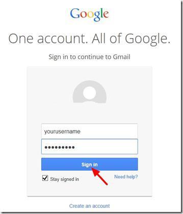 Accesso all'account Google