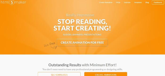 Immagine del sito HTML 5 Maker