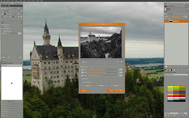 Schermata di GIMP per Linux