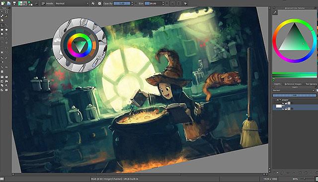 Schermata di Krita per Linux