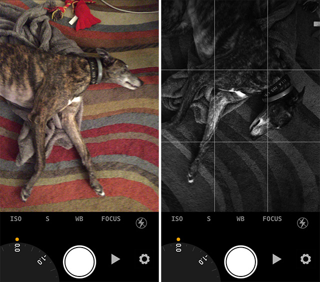 Schermate dell'app Manual Cam per iPhone