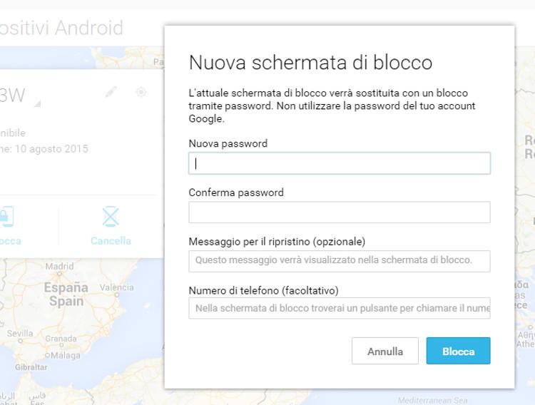 Bloccare un telefono Android a distanza