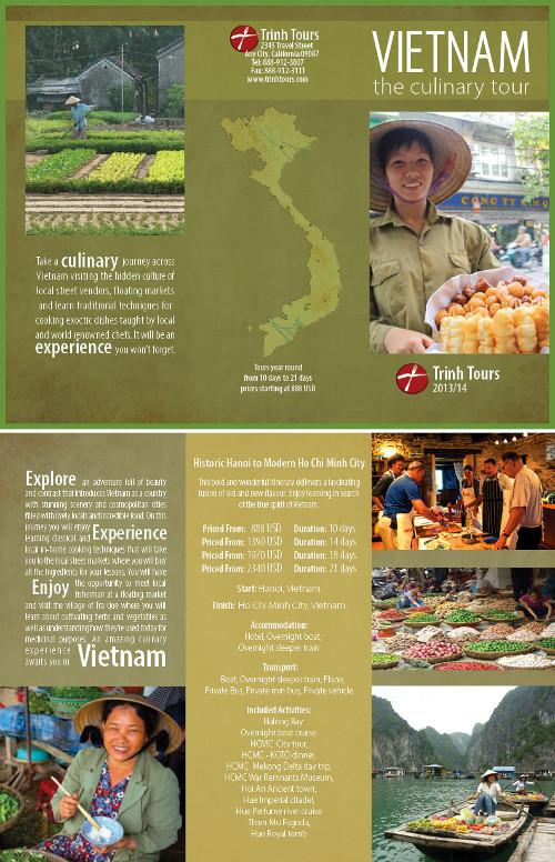 Nono esempio di brochure turistica o di viaggi