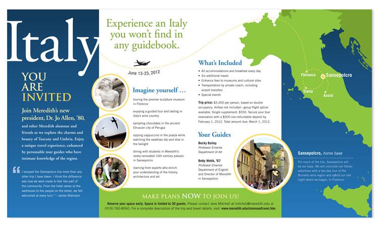 Esempi di brochure turistiche e di viaggi