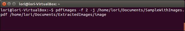 Comando Linux per estrarre le immagini da PDF a partire da una certa pagina