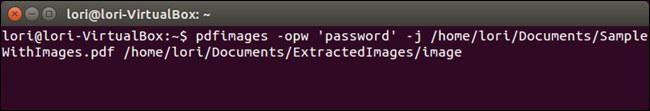 Comando Linux per estrarre immagini da un PDF protetto da password