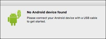 Messaggio di dispositivo Android non trovato