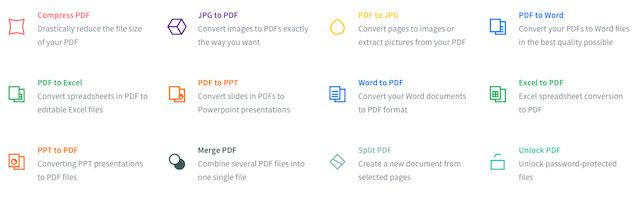 Schermata del convertitore online Small PDF