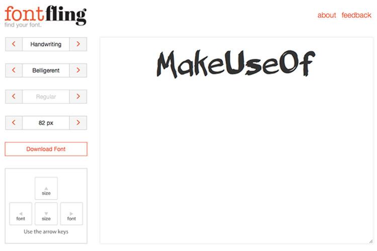 Immagine del sito FontFling per scaricare font gratis