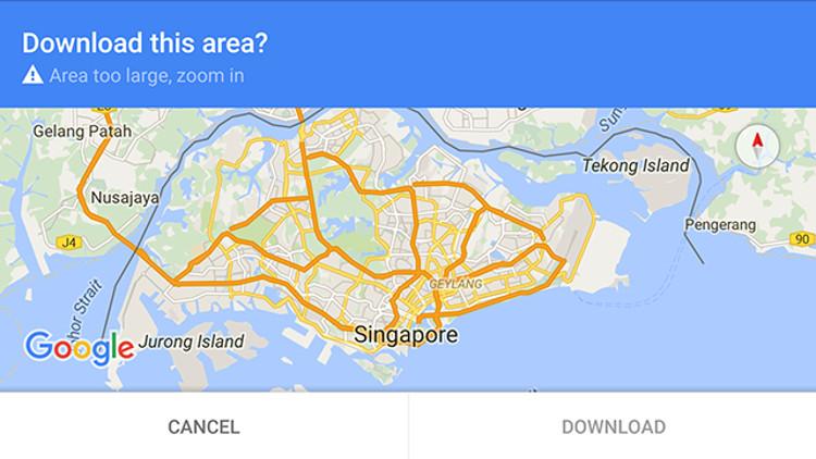 Pulsante per scaricare una mappa da Google Maps