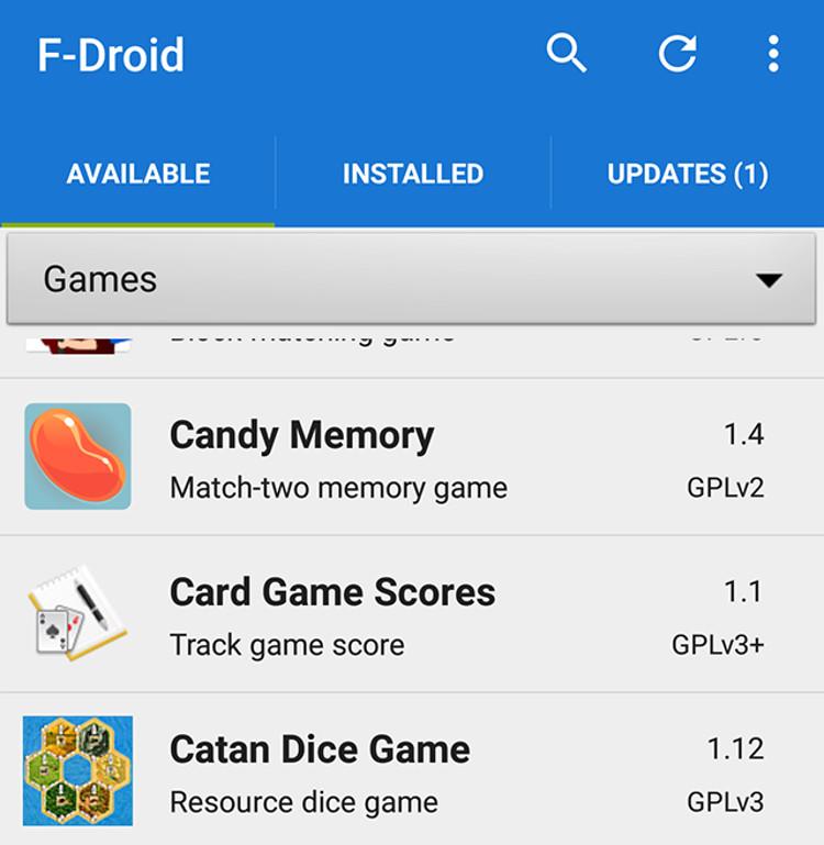 Schermata del sito F-Droid per scaricare app