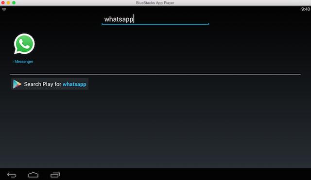 Schermata dell'emulatore BlueStacks