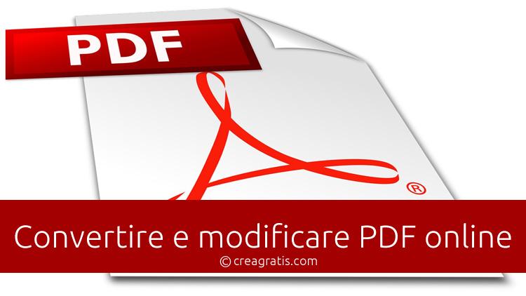 Convertire e modificare PDF online