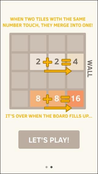 Schermata del gioco 2048 per iPhone