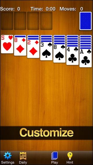 Schermata del gioco Solitaire per iPhone
