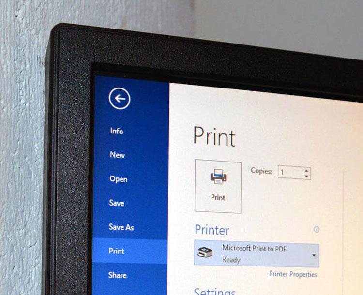 Stampare in PDF su Windows-10